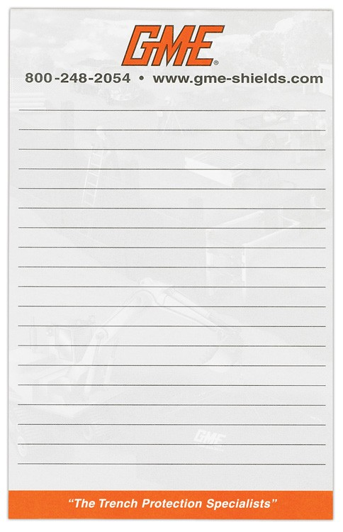 Scratch Pads -- 5 3/8 x 8 3/8 -- 50 sheets