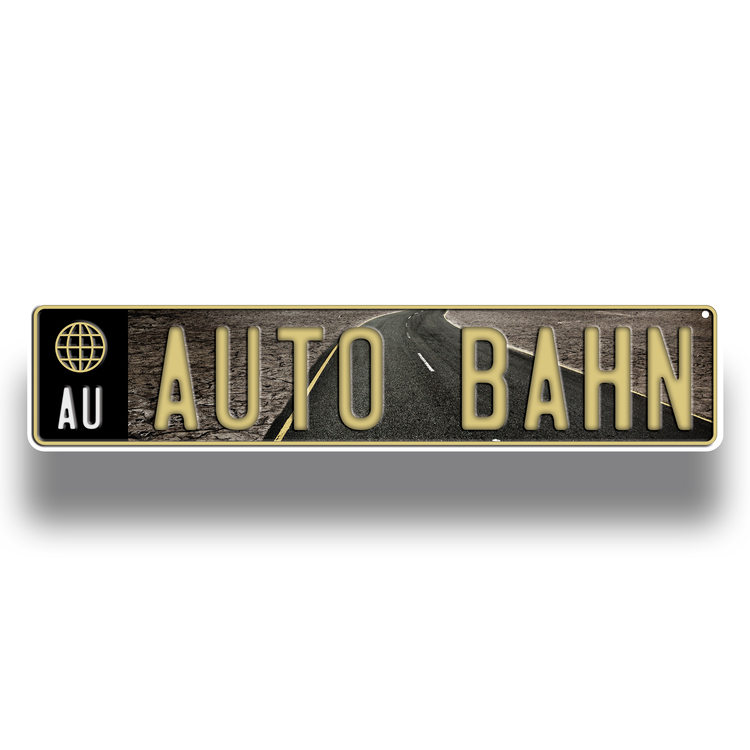 European License Plate-4 COLOR PROCESS (Embossed)