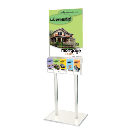 67h Clear Acrylic Floor Frame , for 22 x 28 poster with 5 pocket