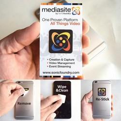 Pluswipe Full Color Microfiber Sticky Screen Cleaner Sticker 1.1 Square A-Series
