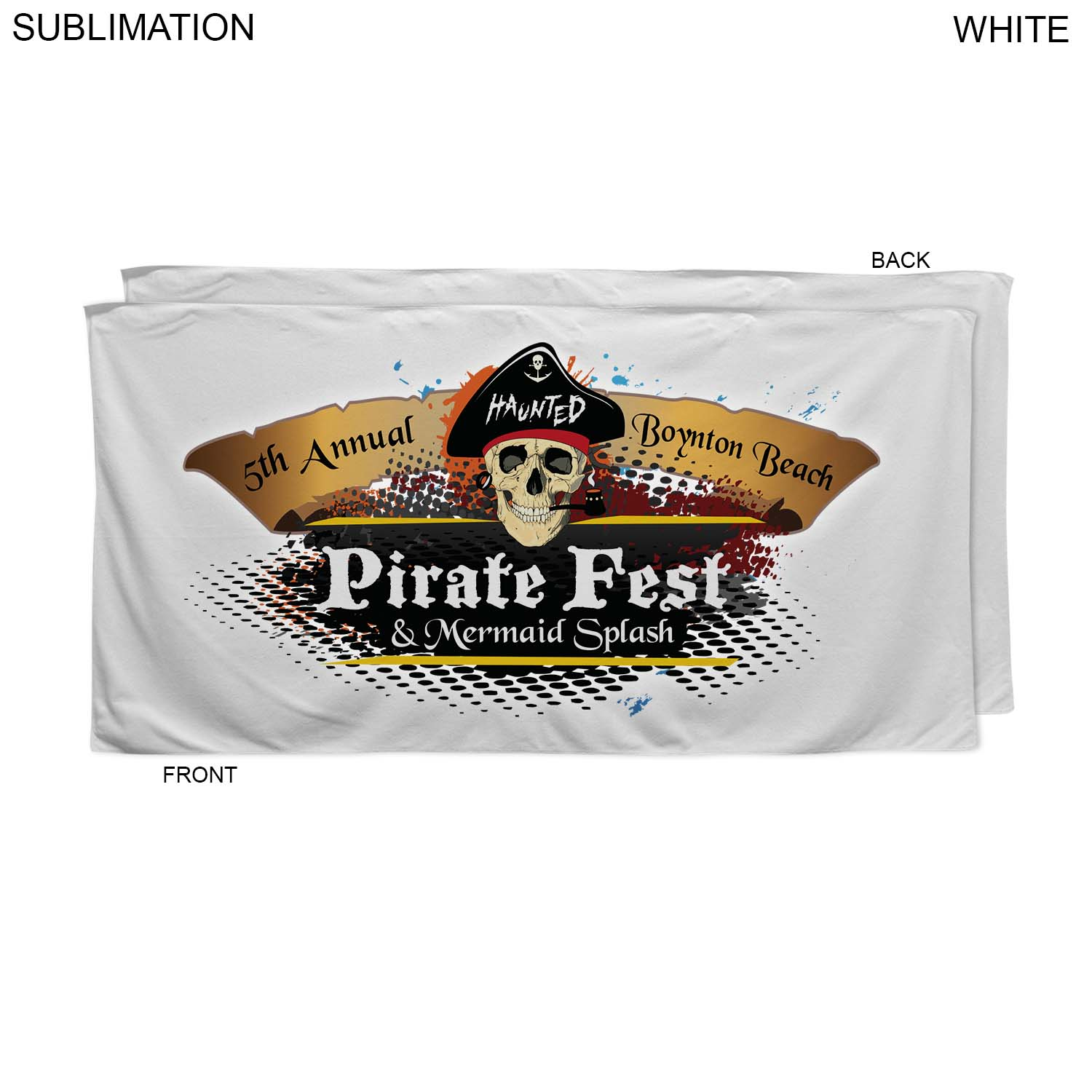 Promo Sublimated or Blank Microfiber Terry Beach Towel, 30x60