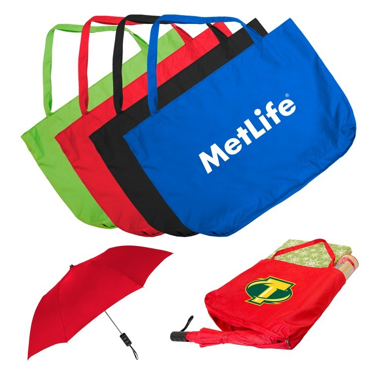42 Inch Folding Umbrella with Tote Bag Combo SALE $8.99 Until August 31, 2017