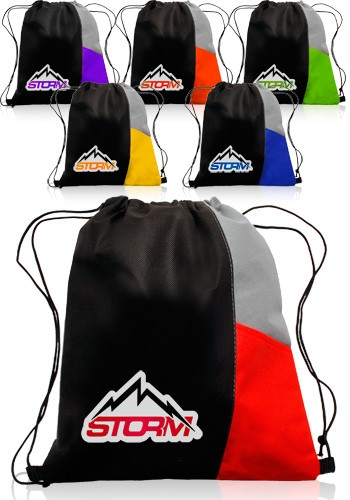 Non-Woven Drawstring Sports Back Pack - 13 W x 15 H
