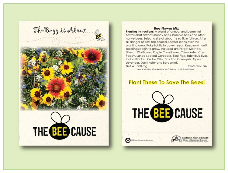 Bee Mix Seed Packet - Imprinted Seed Packet