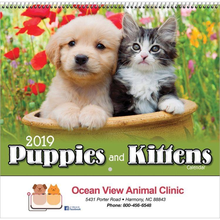 Puppies & Kittens Wall Calendar - Spiral - Beacon Calendars