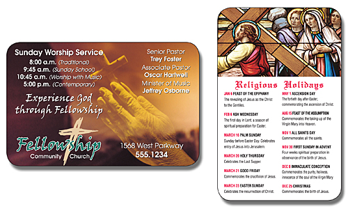Religious Laminated Wallet Card - 3.5x2.25 (2-Sided) - 14 pt.