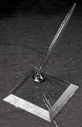 George Washington Pen Set. Starfire Glass