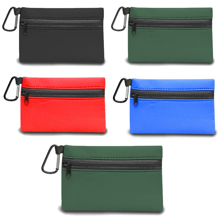 Neoprene Zipper Wallet