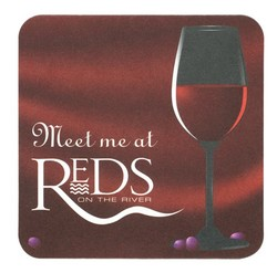 "Full Color 40 pt. Pulp Board Coaster - 4"" sq. - Full Color Decoration"