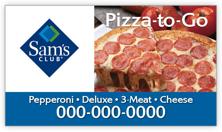 Sam S Club Pizza Business Card Magnet