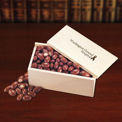 Wooden Collector's Box with Milk Chocolate Almonds