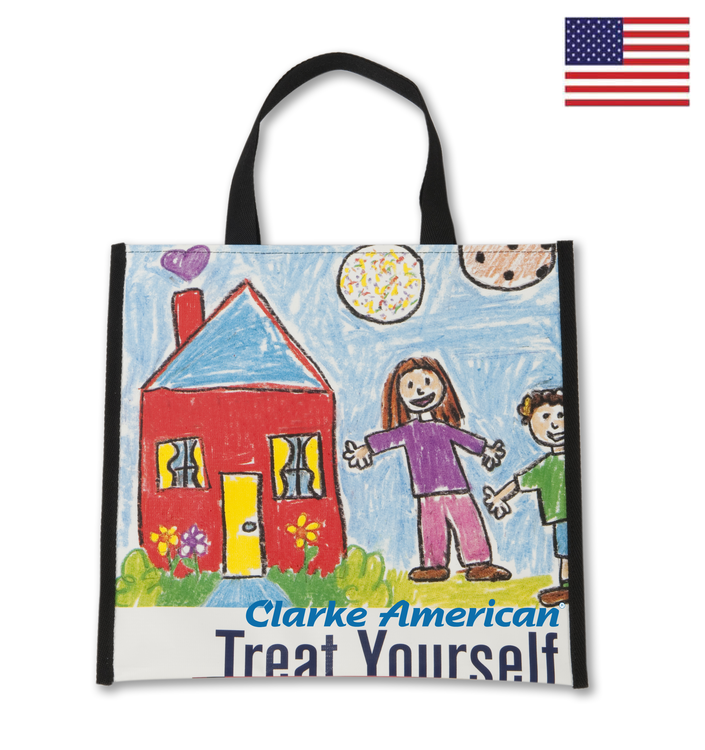 Marquee Recycled Banner Tote Bag 14x13