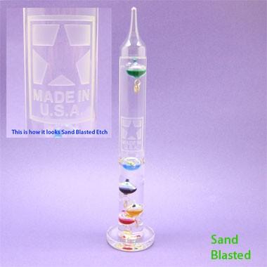 12 GLASS GALILEO THERMOMETER
