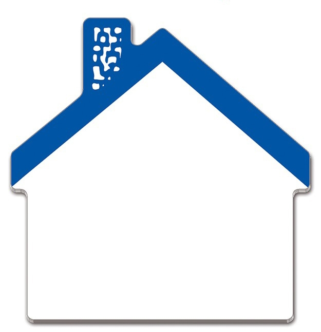 Adhesive Note Shape - House (4x4) - 100 Sheets