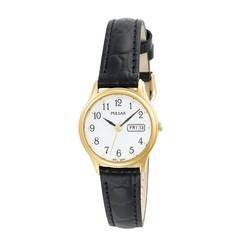 Pulsar Women's Black Leather Strap Watch