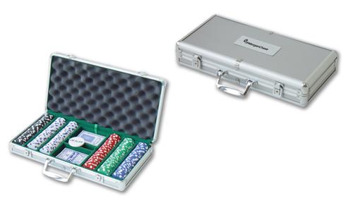 300 Piece Suit Chips with Aluminum Poker Set