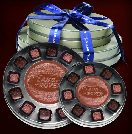 Custom Chocolate Candy Bar w/ 20 Truffles in Window Boxes