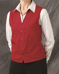 V-neck Button-Front Vest