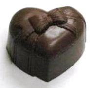 CHOCOLATE HEART BOX SMALL WITH BOW