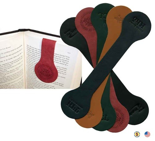 Dual Page Leather Bookmark