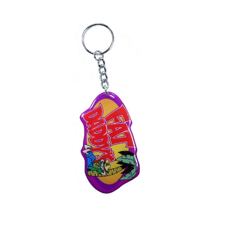 Key Chain / Tag, custom double sided imprint from 3.1 - 4 Sq. In.