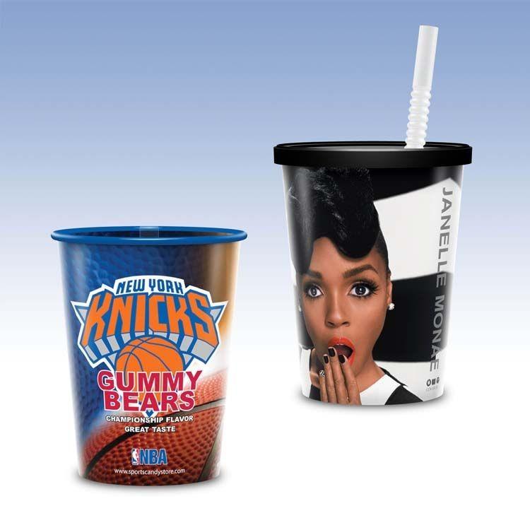 Visstun®-17oz-Reusable Clear Plastic Cup-Hi-Definition Full-Color, Top-Shelf Dishwasher Safe