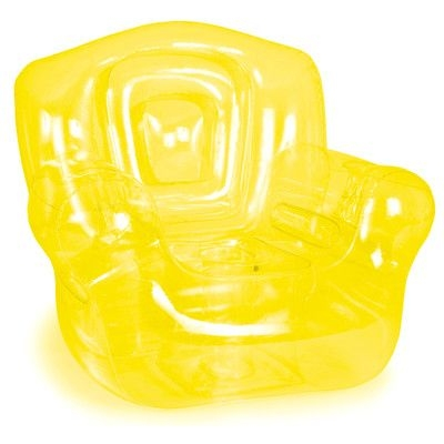 """Inflatable Chair, Yellow - 41""""W x 38""""H x 35""""D"""
