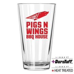 Glass Pub HEAT TREATED / Pint / Beer / Mixing, 16 oz HT