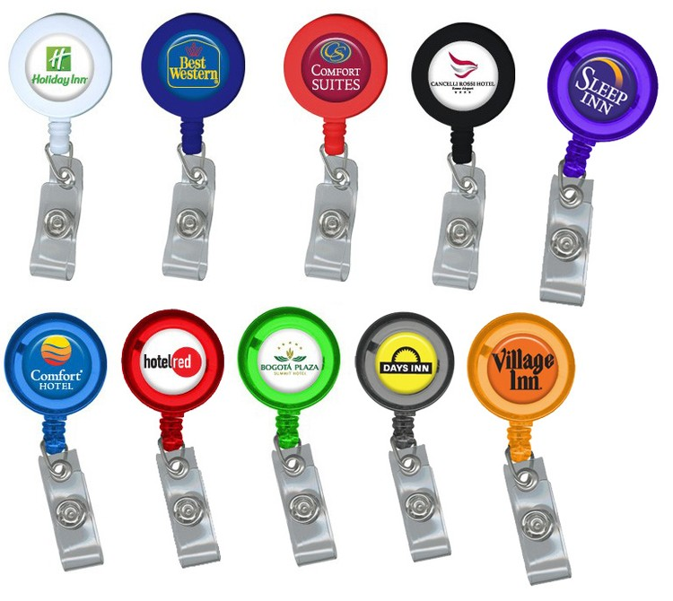 Retractable Badge Holder with Full Color Imprint