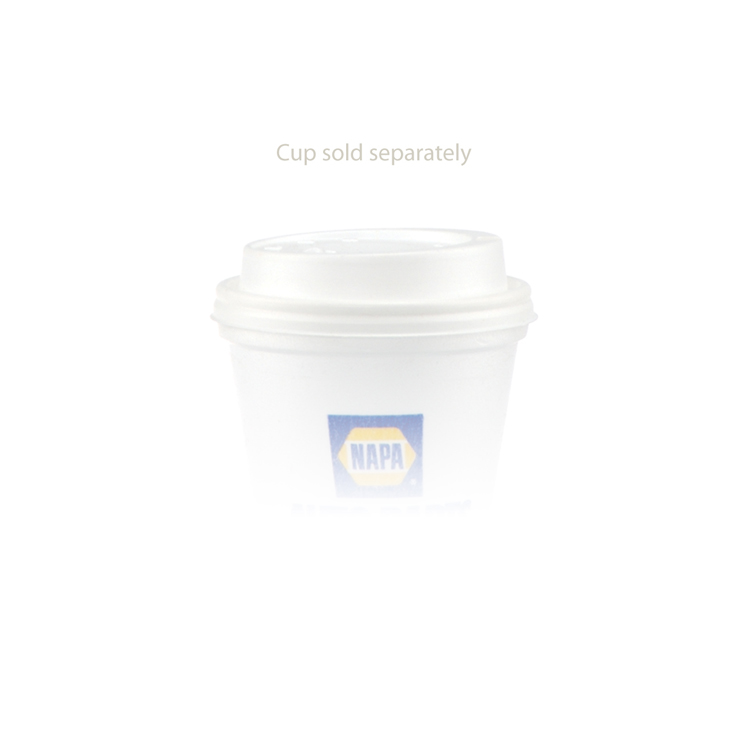 10 oz Foam Cup Domed Lid - White