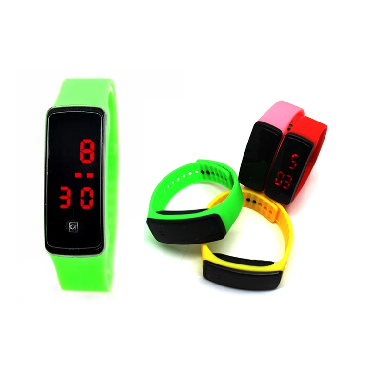 SM00058 - Colorful PU Strap Bracelet Watch with LCD Screen