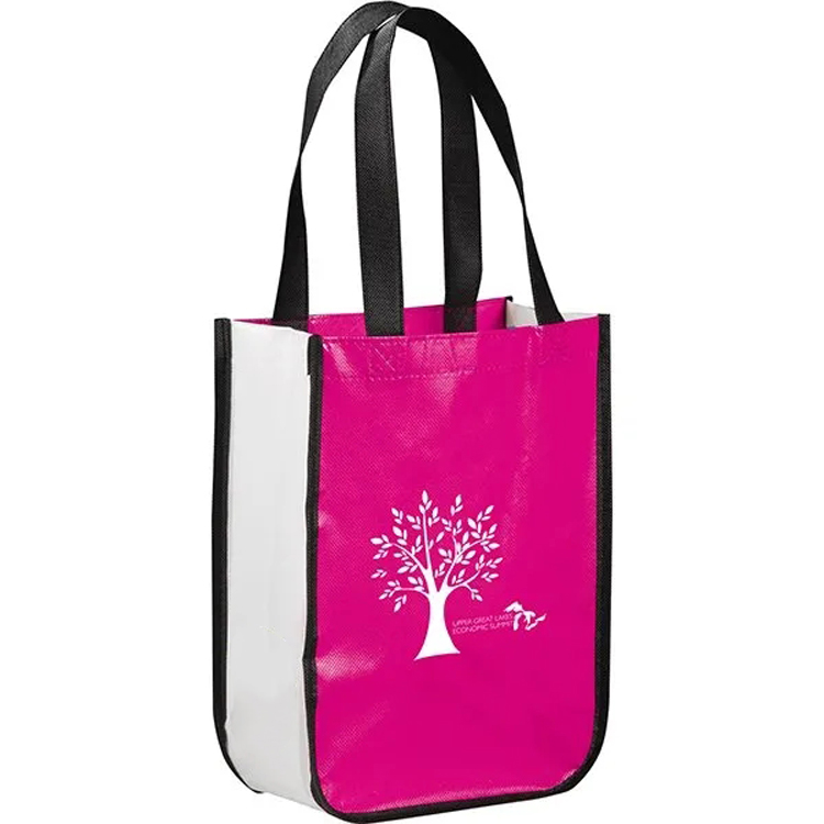 c85b6218d85 Shiny Non-Woven Shopper Tote Bag