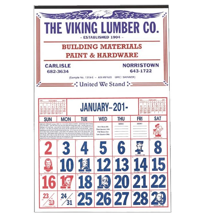 Apron Style Calendar - 1319-E Skinner & Kennedy Co. Inc.
