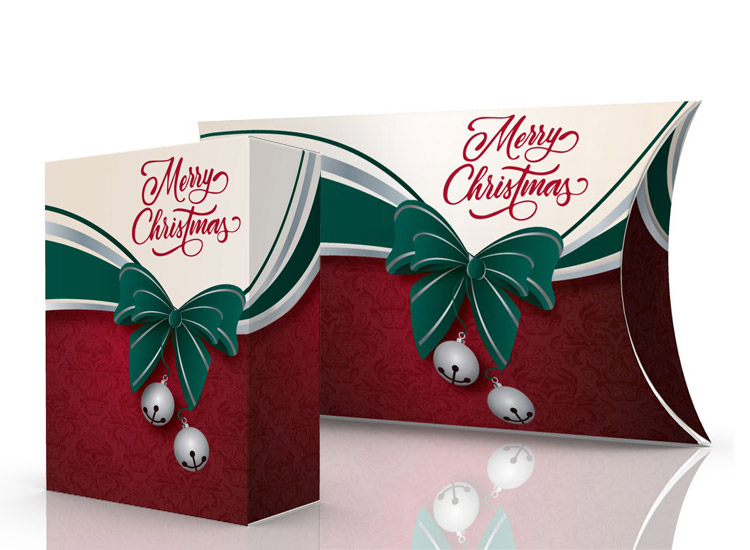 Christmas gift kit tuck boxes and pillow boxes
