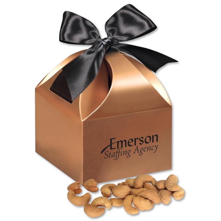 Extra Fancy Jumbo Cashews in Copper Gift Box