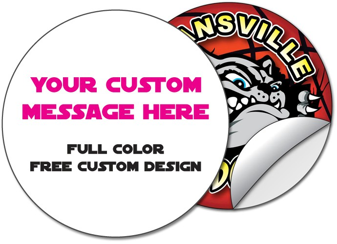 Sticker / Decal - 3.875 Inch Circle RoundShape - UV Coated Removable Vinyl