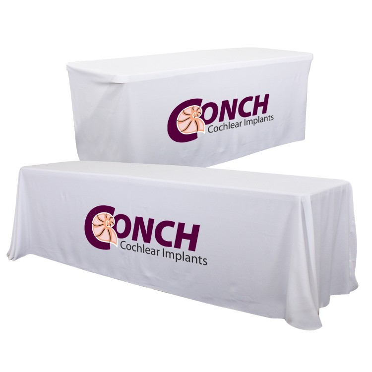 24 Hour Quick Ship 8' Convertible Table Throw (Full-Color Thermal Imprint)
