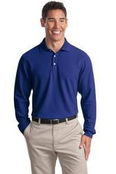 Port Authority Tall Long Sleeve EZCotton Pique Polo.