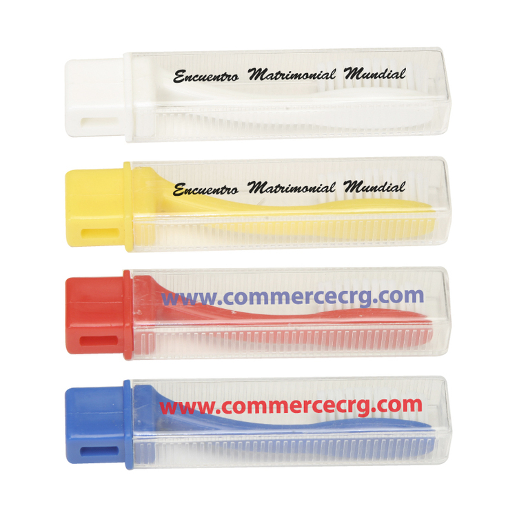 Transparent Travel Toothbrush w/Sleeve
