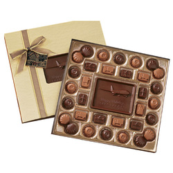 1 lb. Custom Chocolate Gift Box with Stock Truffles - Executive Gifts