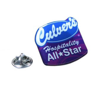 Lapel Pin / Pins with custom shape imprint from 1.1 - 2 Sq. In.
