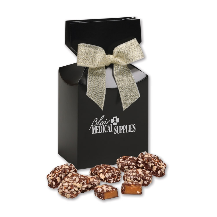 Black gift box with your logo & English Butter Toffee