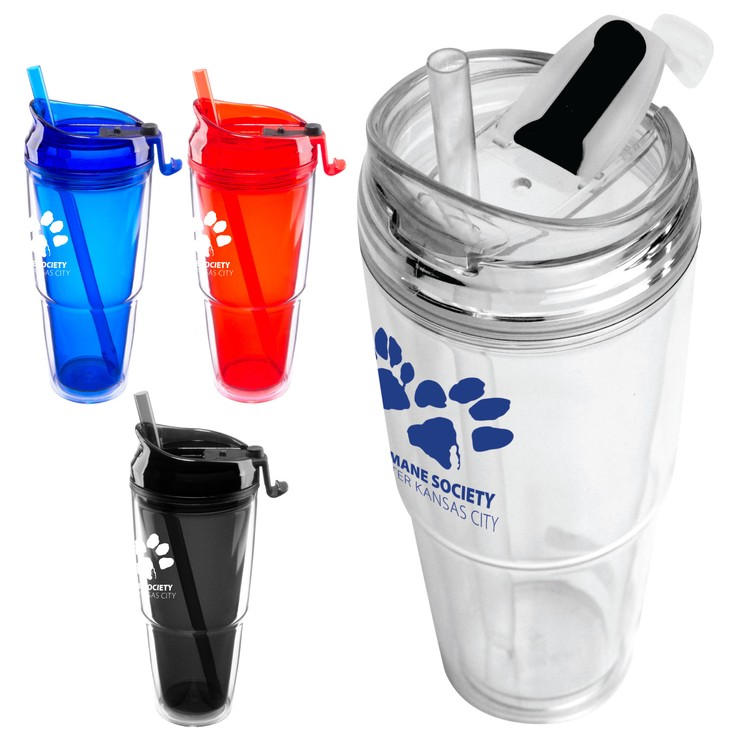 22 oz. Insulated Dual Tumbler with Matching Straw