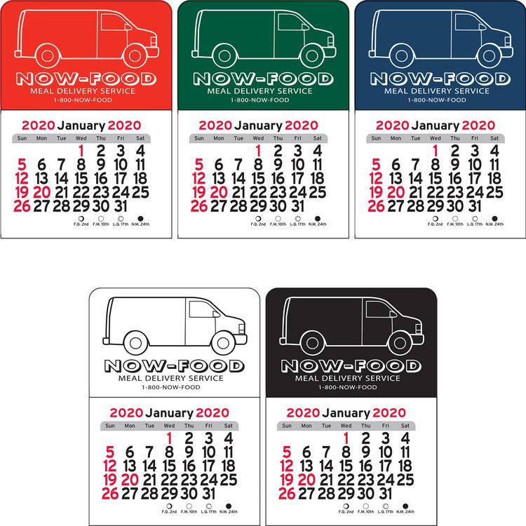 2020 Flourish Mini Calendar: Van Vinyl Adhesive Mini Stick Calendar 2020 - 607