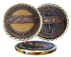 1 3/4 Custom Texture Tone Double Sided Coin