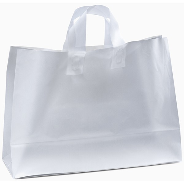 b42e21c230 Daisy Frosted Plastic Bag - 35HDW1612 | A Promotional Design Embroidery