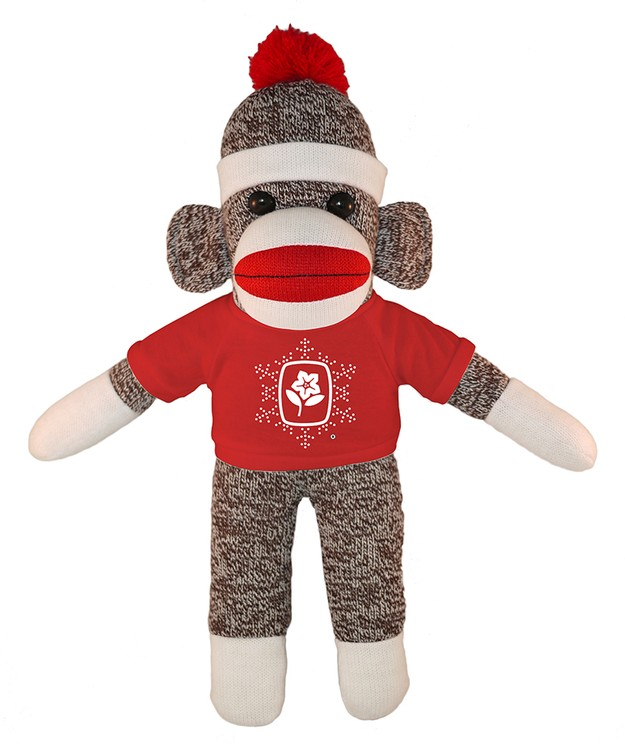 Orginal Sock Monkey (Plush) with tee Stuffed Animal