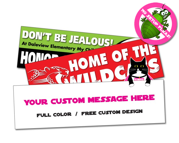 Sticker / Decal - Economy 2.5x8.625 Inch Rectangle Shape - UV Coated Removable Vinyl