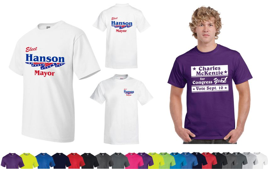 Political Campaign T-shirts Custom Screen Printed