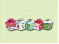 SeedGems Assembled Paper Planters - Imprinted Paper Planters
